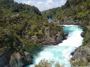 Huka Falls, Taupo mellett, Új-Zéland, Északi-sziget